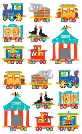 Mrs. Grossman's Circus Train Stickers Stay at home activity