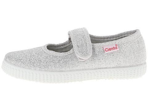 Cienta Silver Sparkle Mary Jane Children's Shoes Dallas Texas