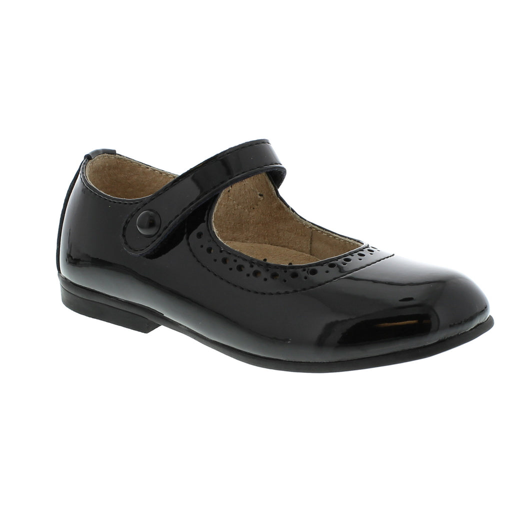 Black Patent Mary Jane Footmates