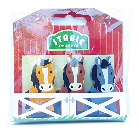 Horses in a Stable Erasers