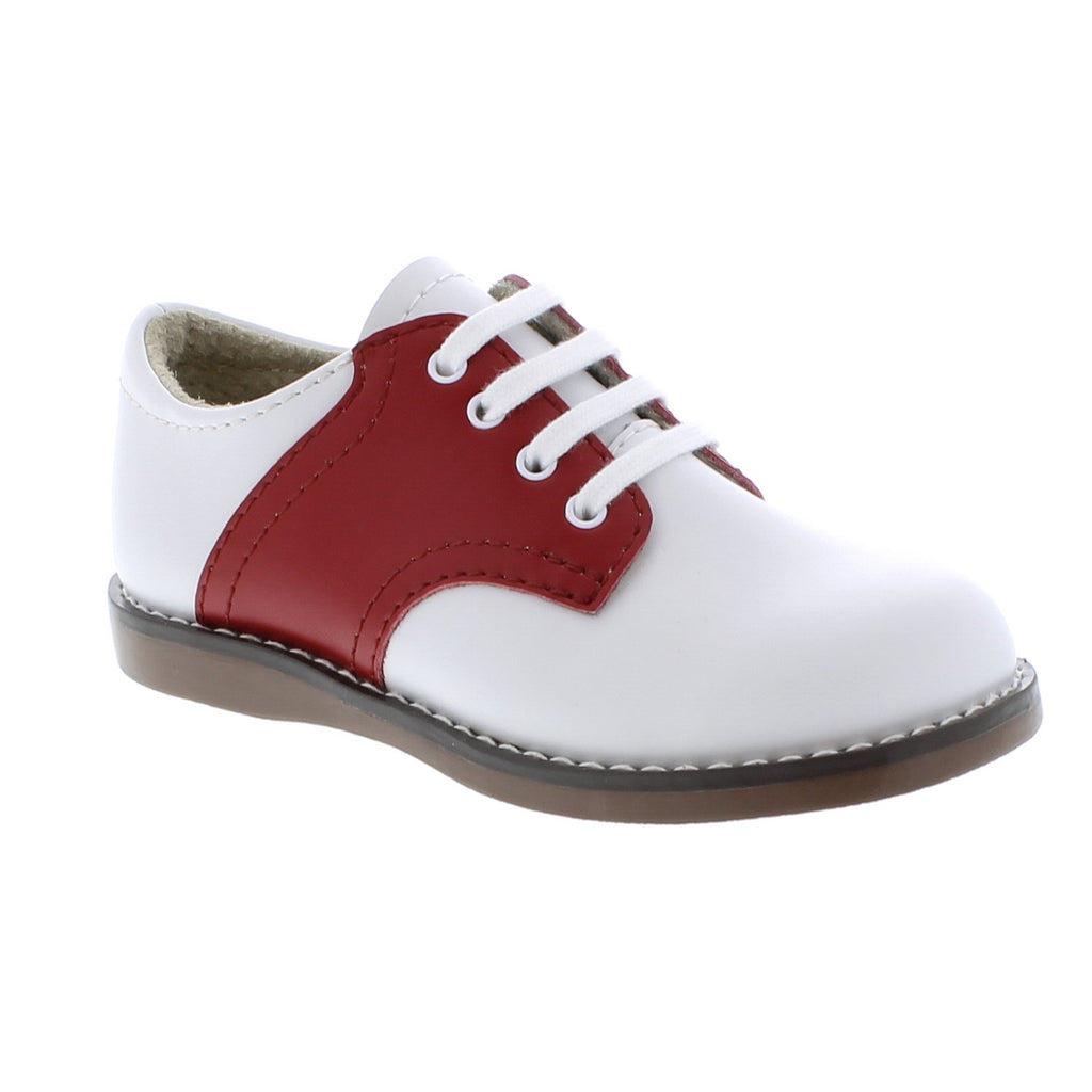 Bardorf Footmates Red Cheer Saddle Oxford Dallas Childrens Shoe
