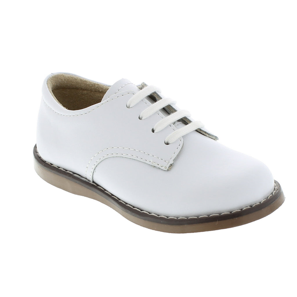 Footmates White Leather Shoe