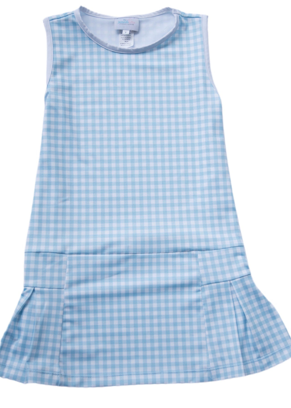 James and Lottie Blair Blue Gingham Tennis Dress