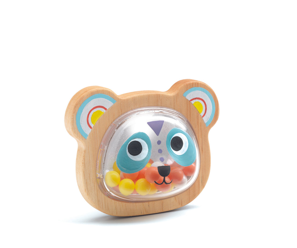Djeco bear face rattle
