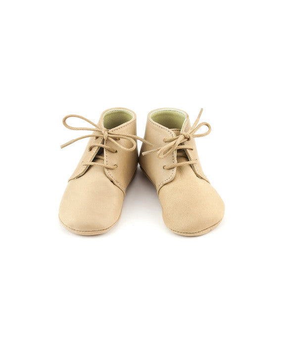Beige Gaby Leather Booties