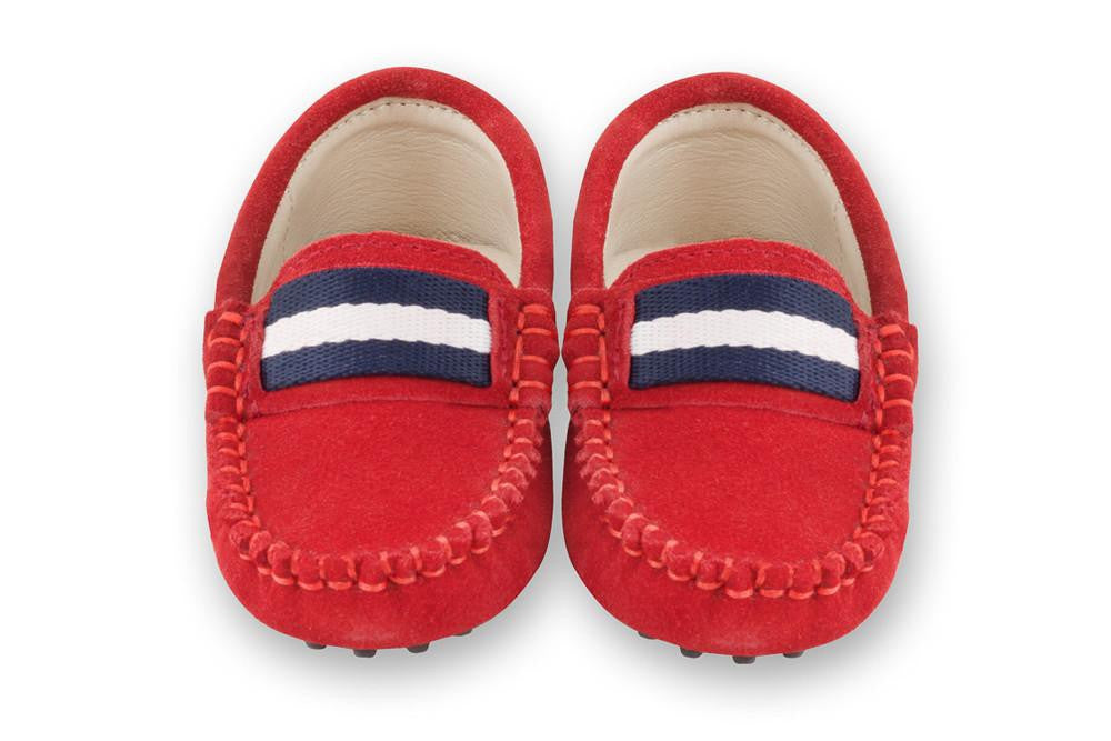 Red Gucci like loafers for kids boys Oscar's