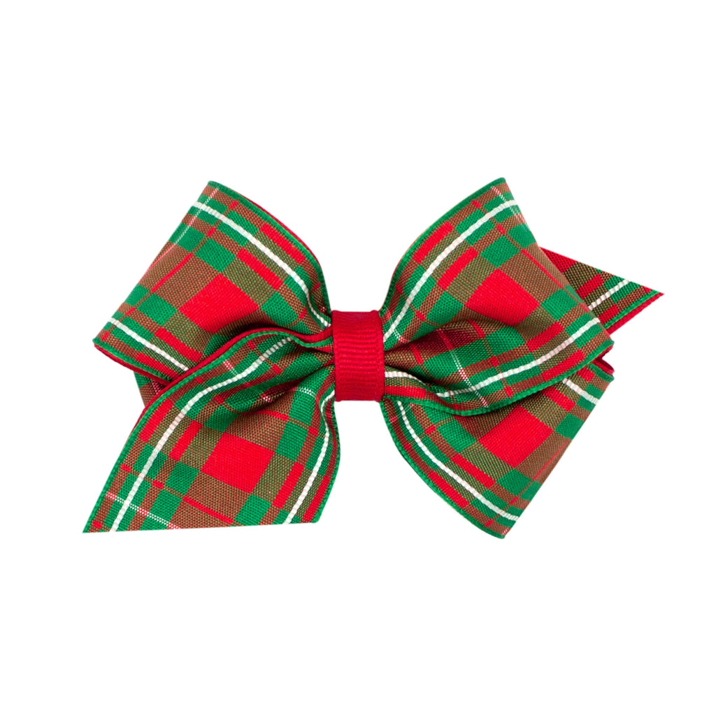 Wee Ones Christmas Plaid Hairbow
