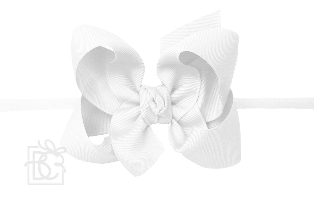 grosgrain bow baby headband Beyond Creations