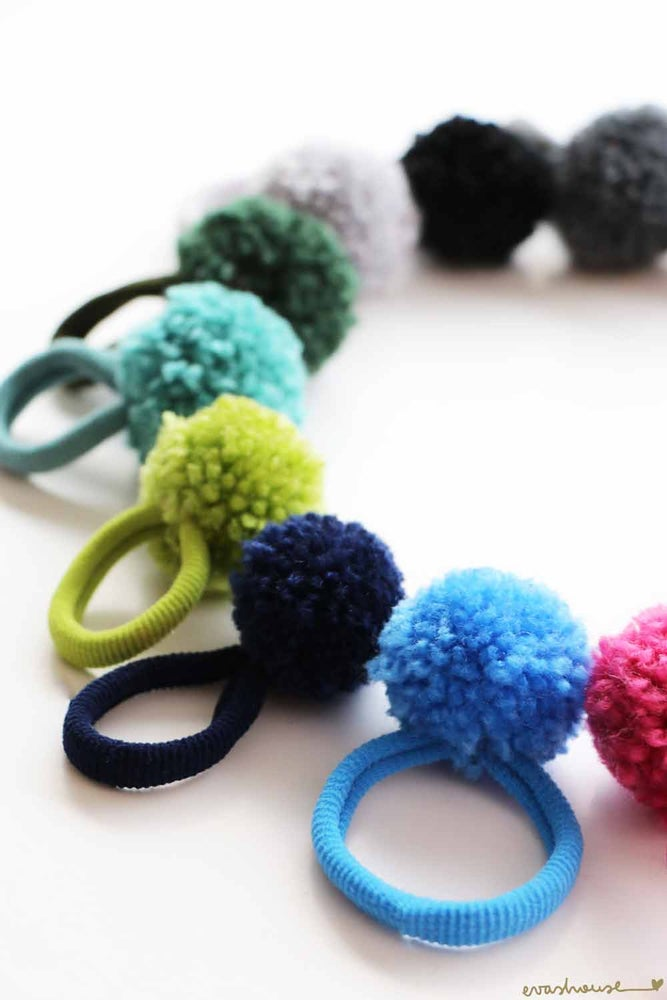 Eva's House Pony Tail Pom Pom Handmade Hair Accessories Dallas