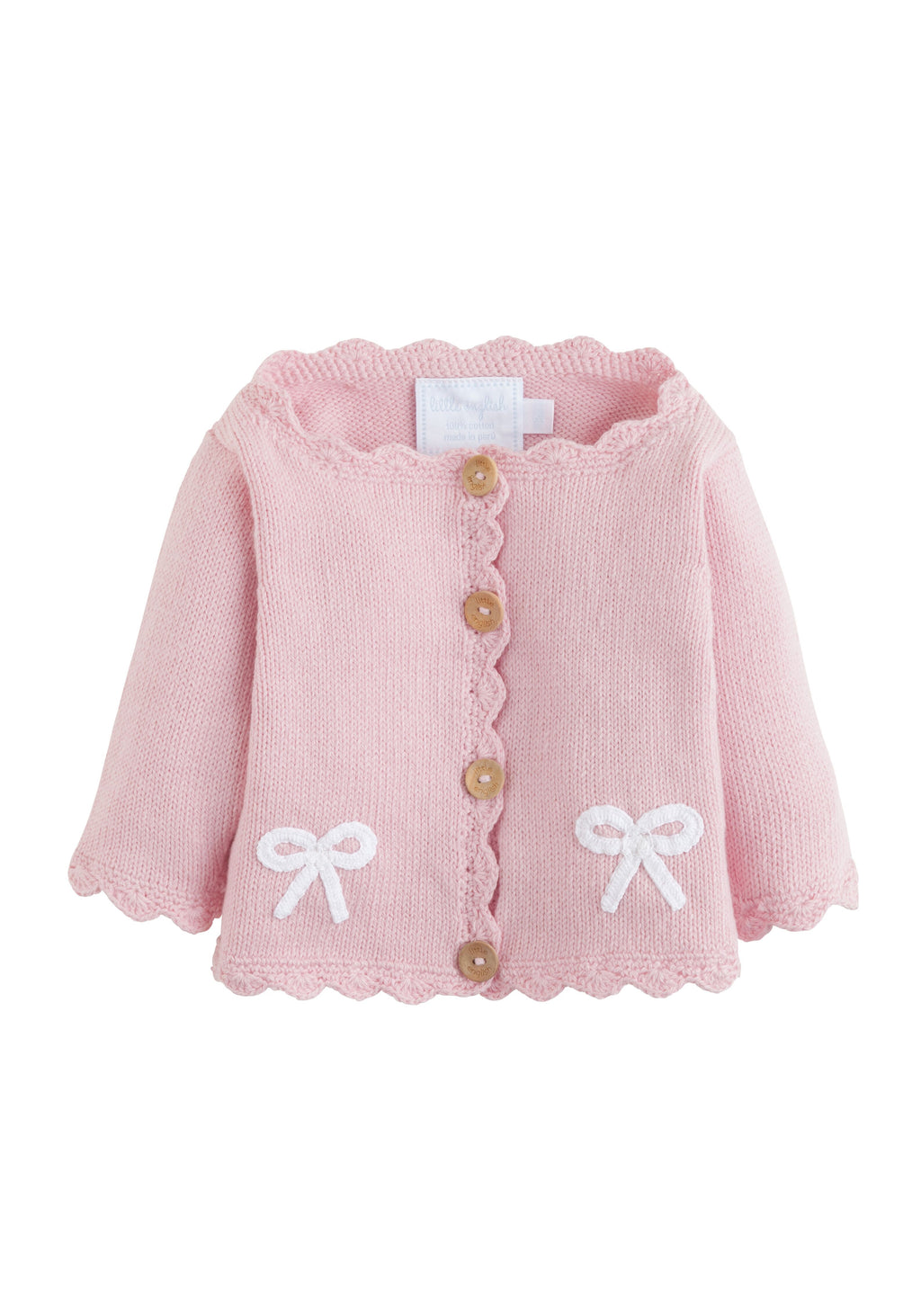 Little English Dallas Pink Bow Cardigan