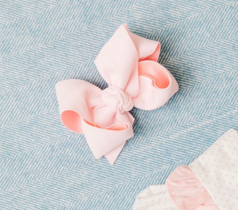 Suede and Grosgrain Bow