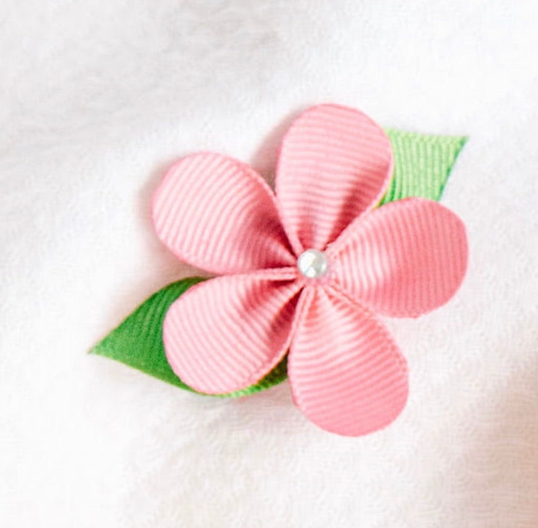 Grosgrain Flower Hair Clip
