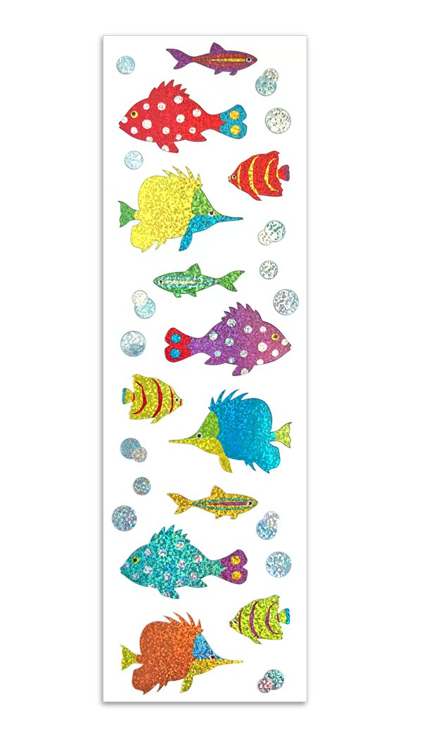 Mrs. Grossman's Limited Edition tropical fish stickers