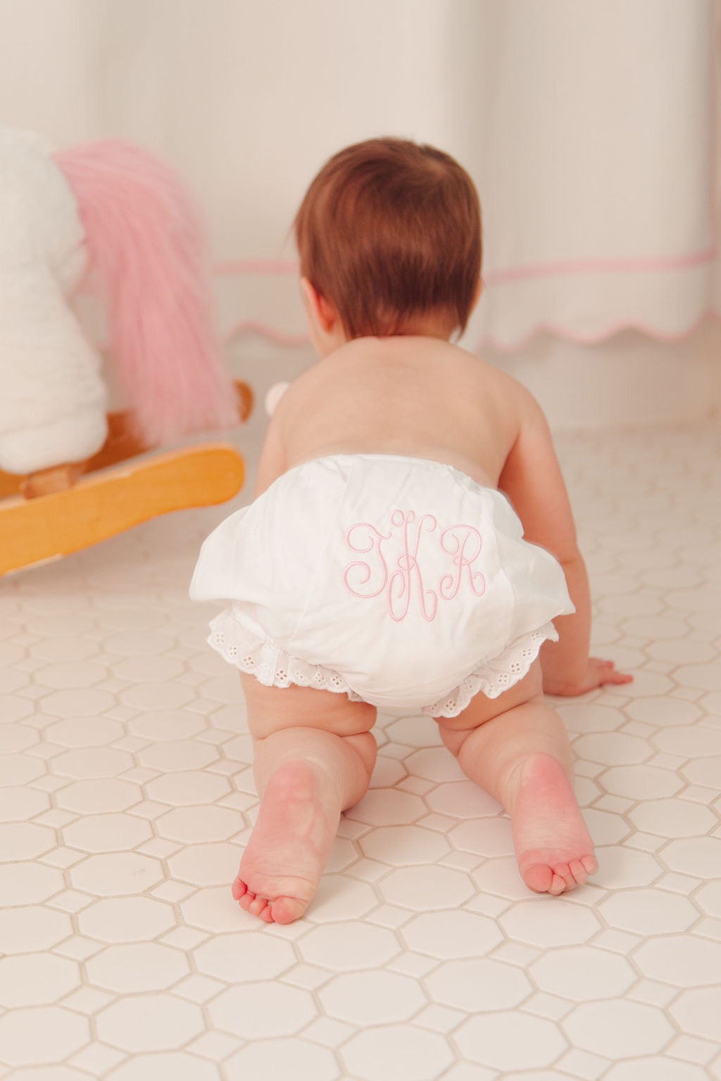 monogrammed baby bloomer dallas