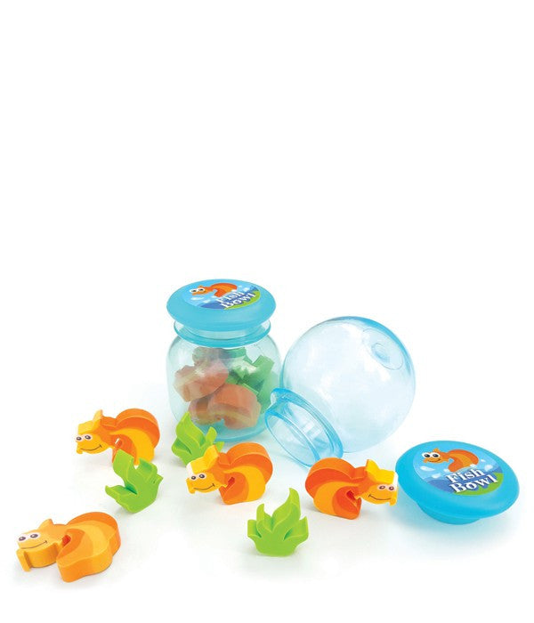 Fish Bowl Eraser Set