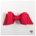 red fabric hair bow