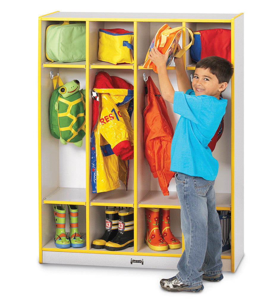 RAINBOW ACCENTS COAT LOCKER 4 SECTIONS