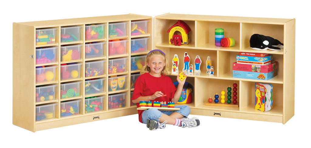 Jonti-Craft® 25 Cubbie-Tray Mobile Fold-n-Lock