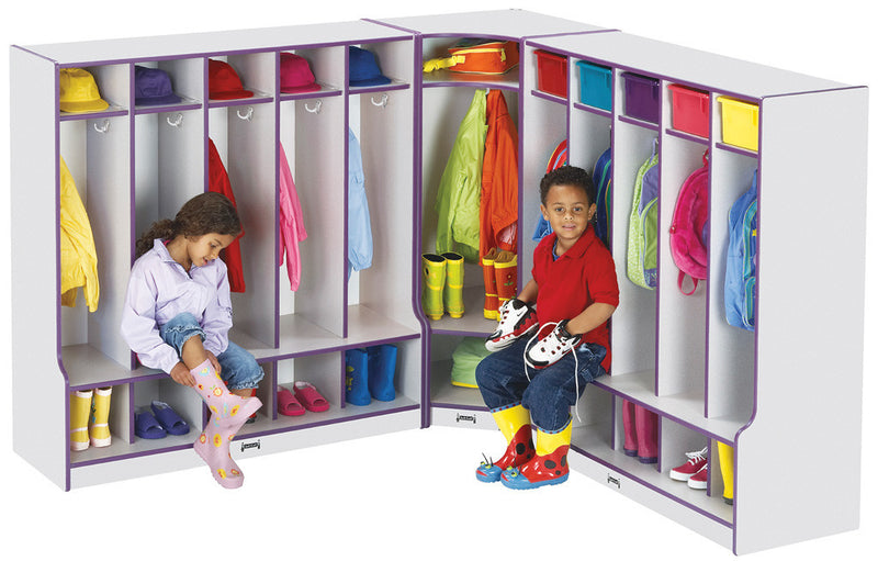 Rainbow Accents® 2 Section Coat Locker with Step