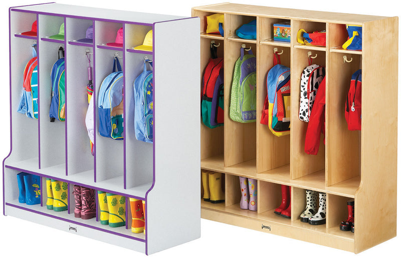 Rainbow Accents® 5 Section Coat Locker with Step