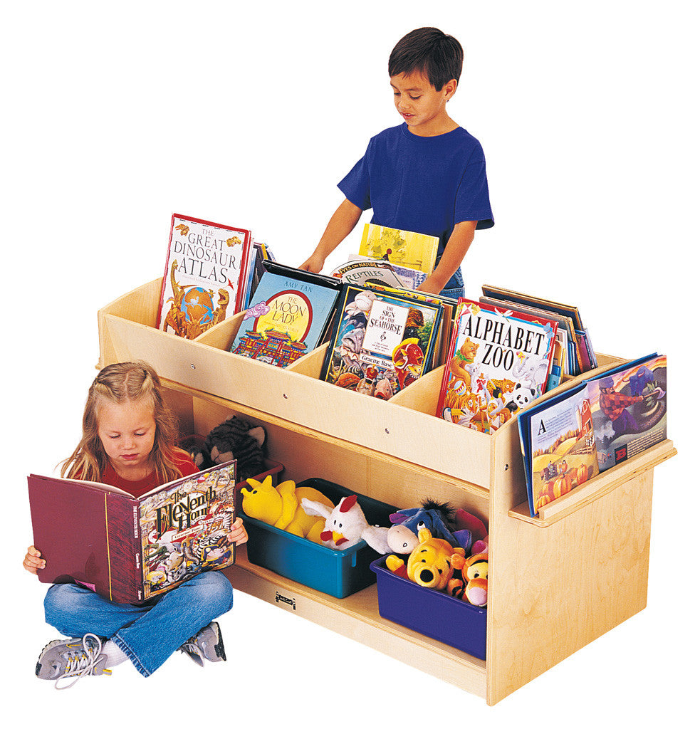 Mobile book shelf with extra storage