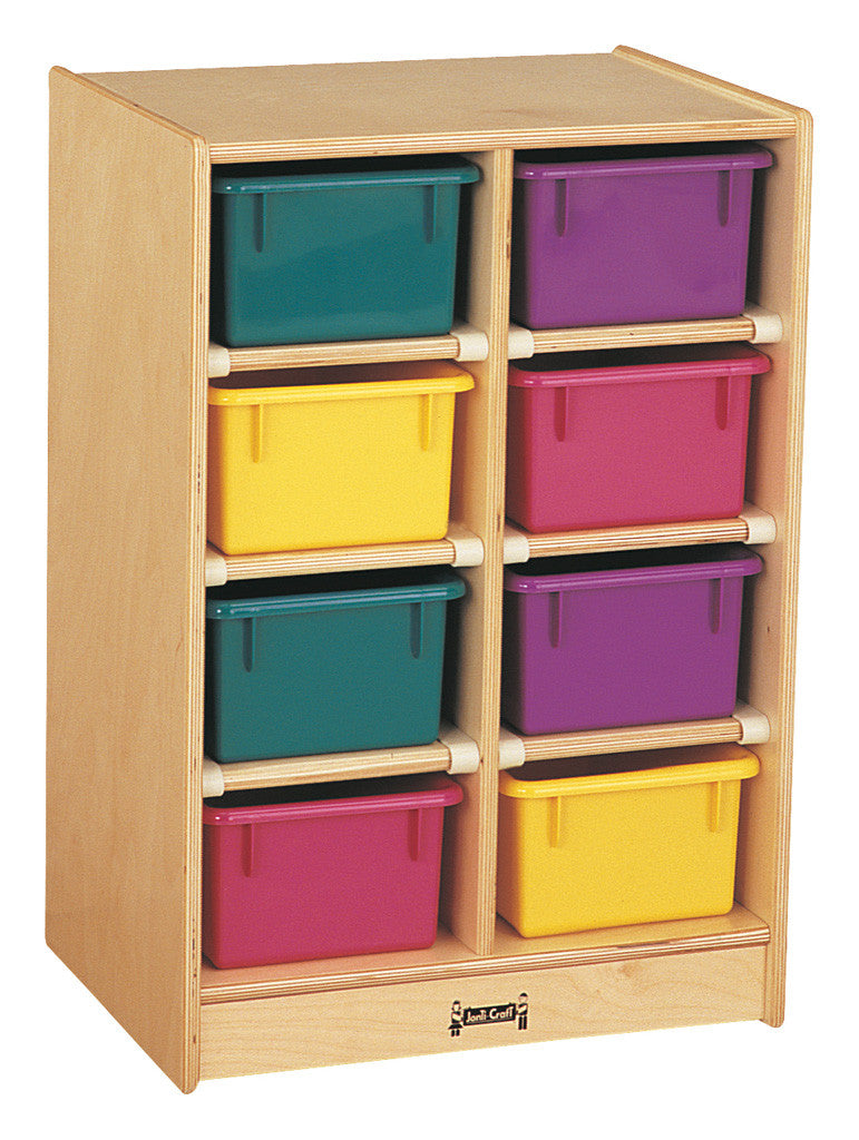 Jonti-Craft® 8 Cubbie-Tray Mobile Unit - with Colored Trays