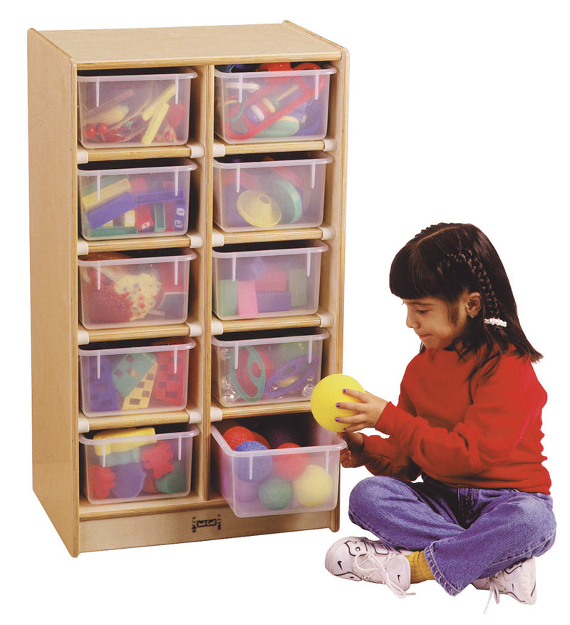 Jonti-Craft® 10 Cubbie-Tray Mobile Unit - with Colored Trays