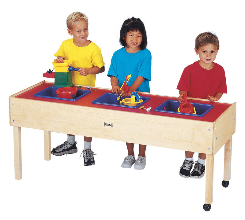 Birch Sensory Play Table with Three Stations