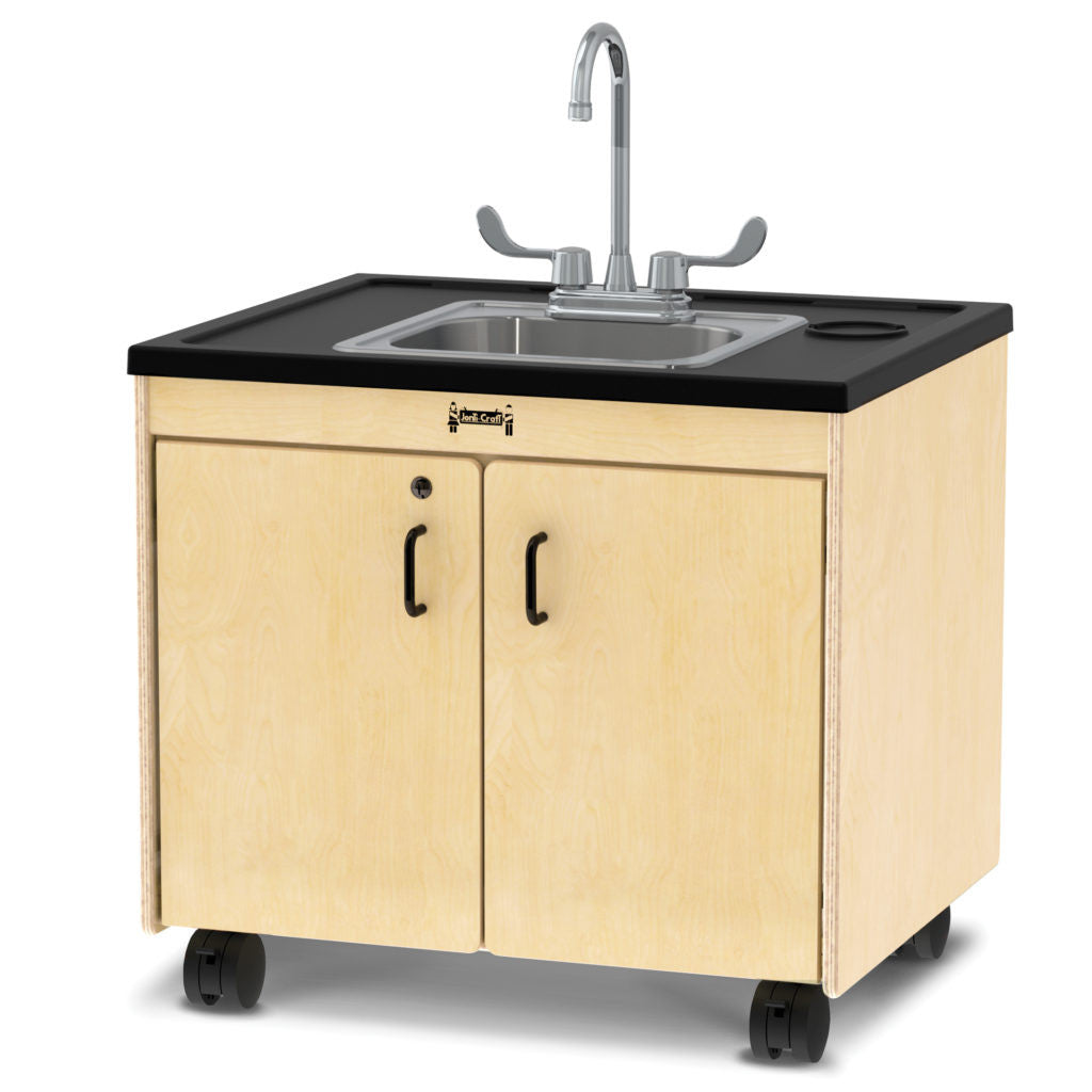"Jonti-Craft portable sink 26"" child height with plastic countertop and stainless bowl"