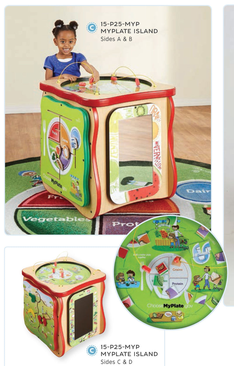 MyPlate Island Package- Carpet and Wall Flip included
