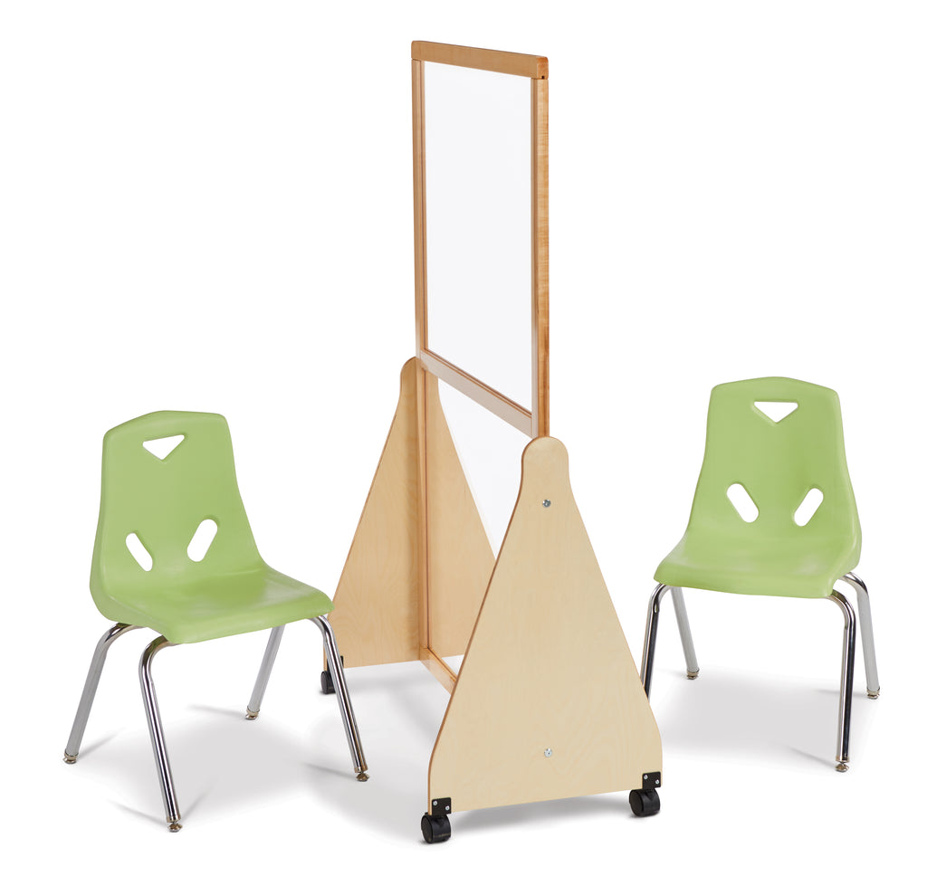 Jonti-Craft See-Thru Small Mobile Space Divider