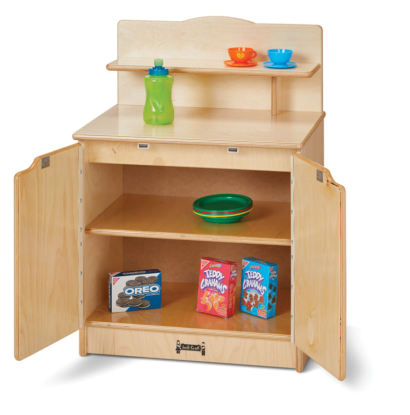 Toddler Gourmet Kitchen- Cupboard with open doors