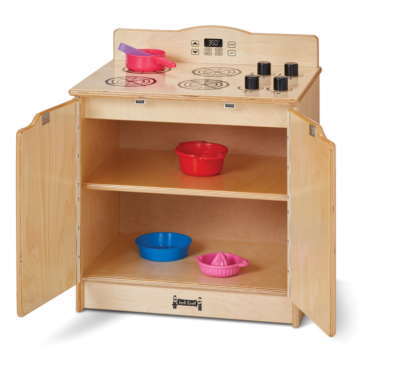 Toddler Gourmet Kitchen-Stove with open doors