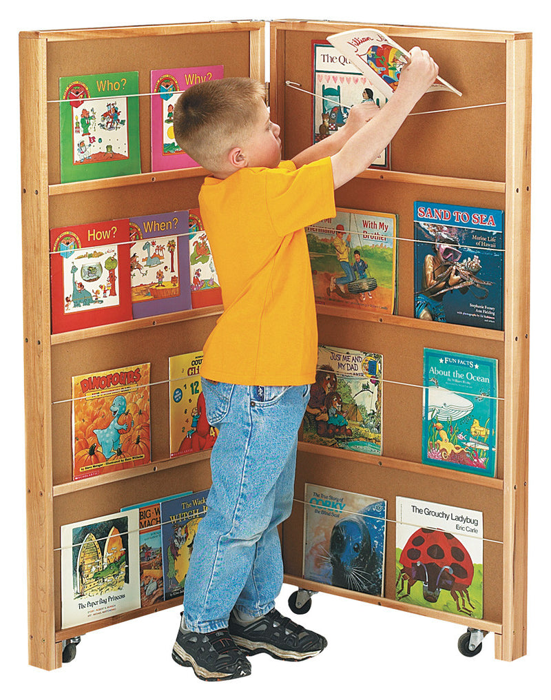 MOBILE LIBRARY BOOKCASE 2 SECTIONS
