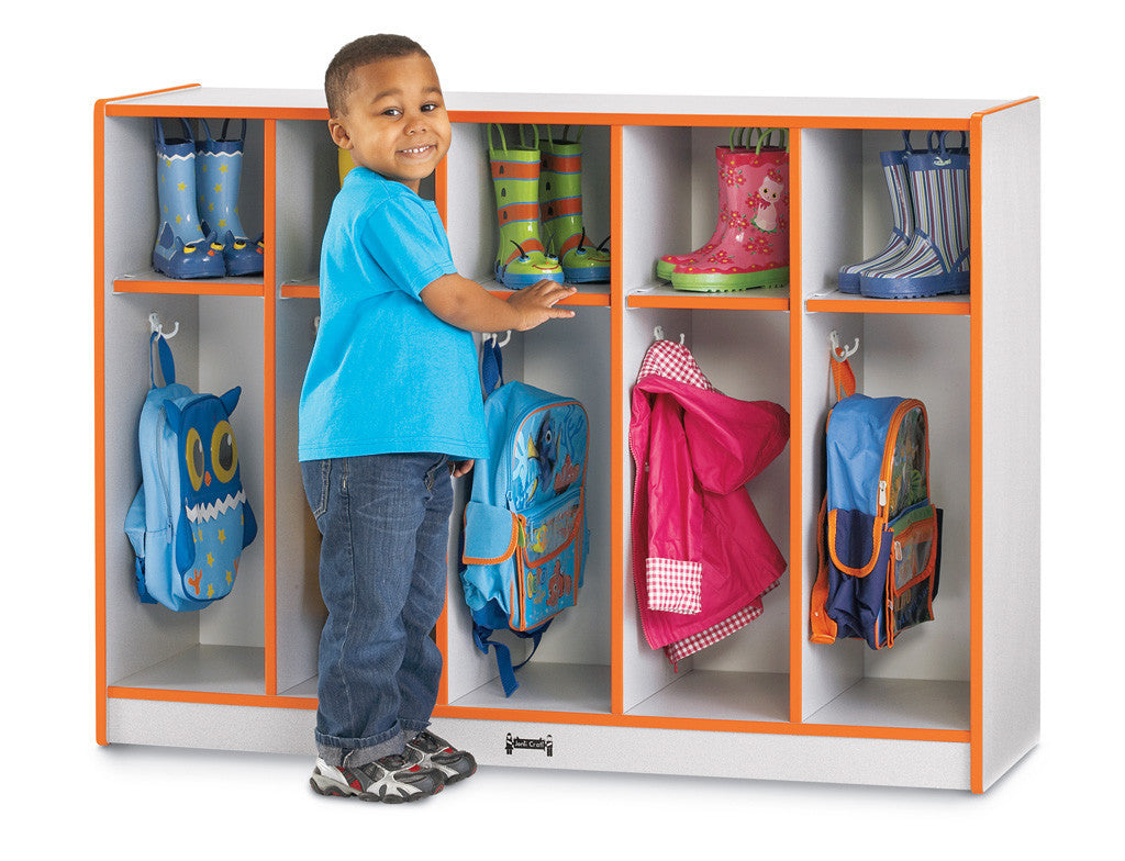 Rainbow Accents® Toddler 5 Section Coat Locker
