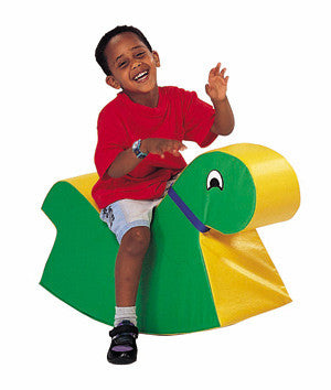 BIG ROCKY (GREEN/YELLOW)  Soft rocking horse