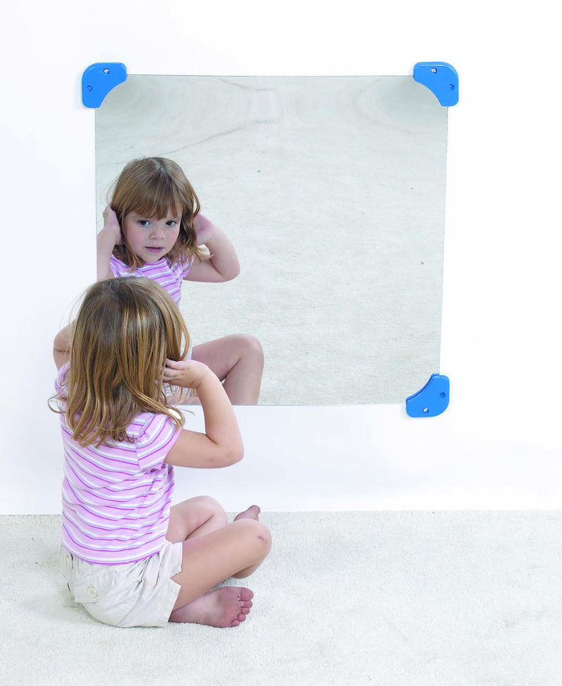 "30"" SQUARE FLAT MIRROR IN ACRYLIC"