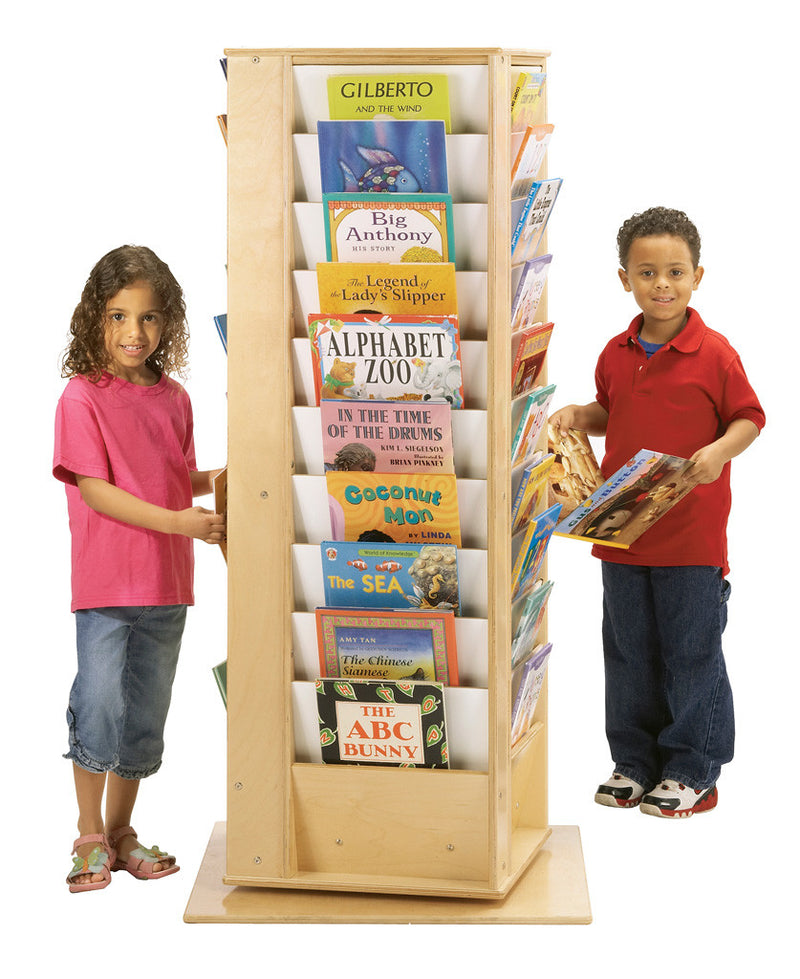 4 sided book display cube with 10 books on each side