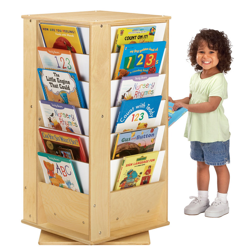 4 side book display cube