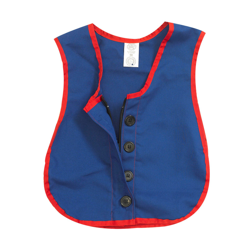 COMBO ZIPPER/BUTTON VEST