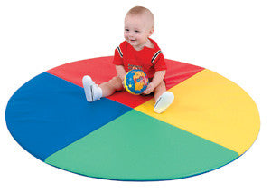 FOUR COLOR PIE MAT for toddlers