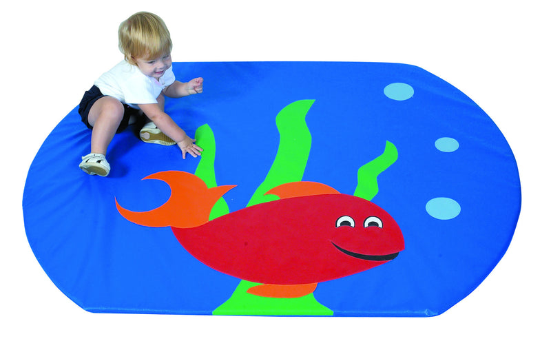 Play mat with fish bowl theme