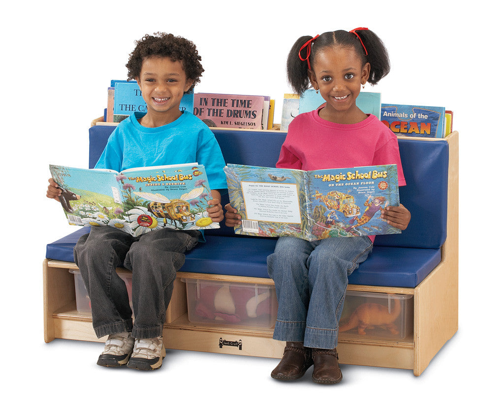Literacy Couch - Blue shown