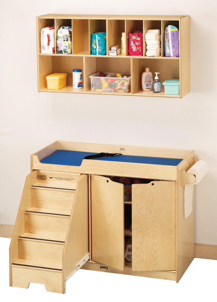 Jonti-Craft® Changing Table - with Stairs - Left