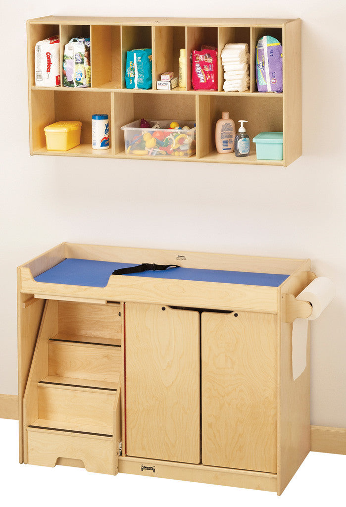 CHANGING TABLE w/STAIRS AND DIAPER ORGANIZER RACK
