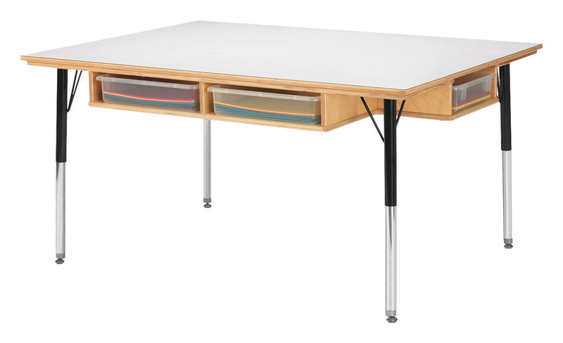 "Jonti-Craft® Table with Storage - 15"" - 24"" Ht - with Clear Paper-Trays"