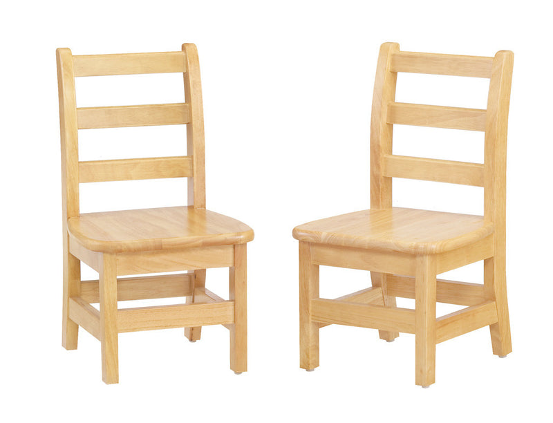 two laddreback chairs