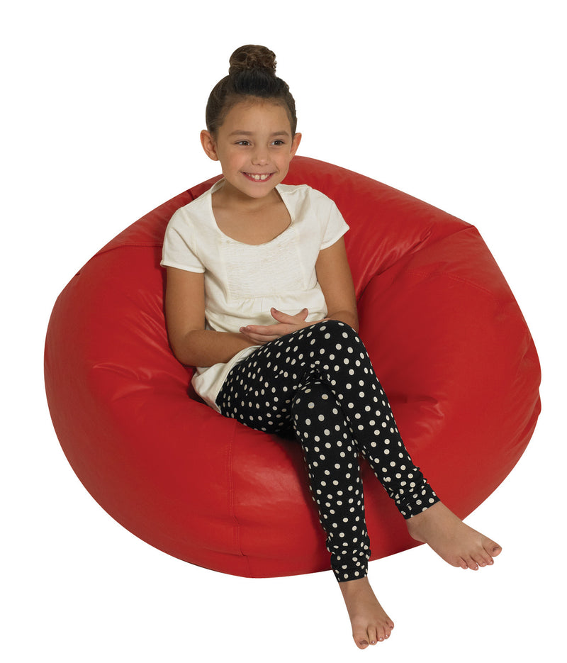 "Girl Seated on 35"" Round Bean Bag - Various Color Choices"