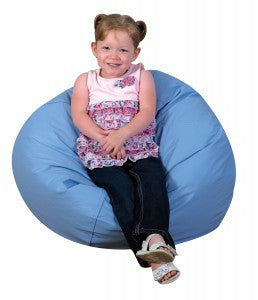 "26"" Bean Bag Chair in Sky Blue"