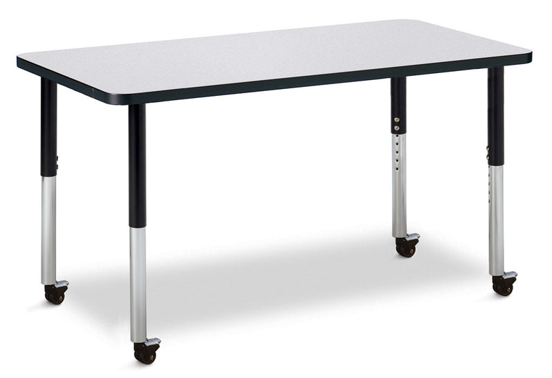 "Berries® Rectangle Activity Table - 24"" X 48"", Mobile"